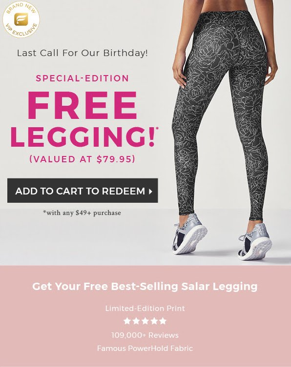 d8a74436a83090 Today Only! Fabletics VIP Deal - Free Anniversary Leggings with ...