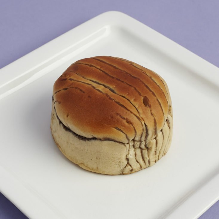 Natural Yeast Bread Coffee Bun on plate