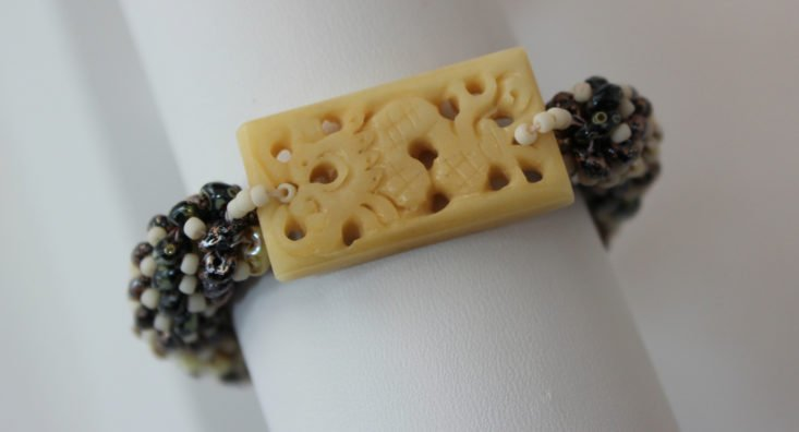 bracelet with rectangular charm