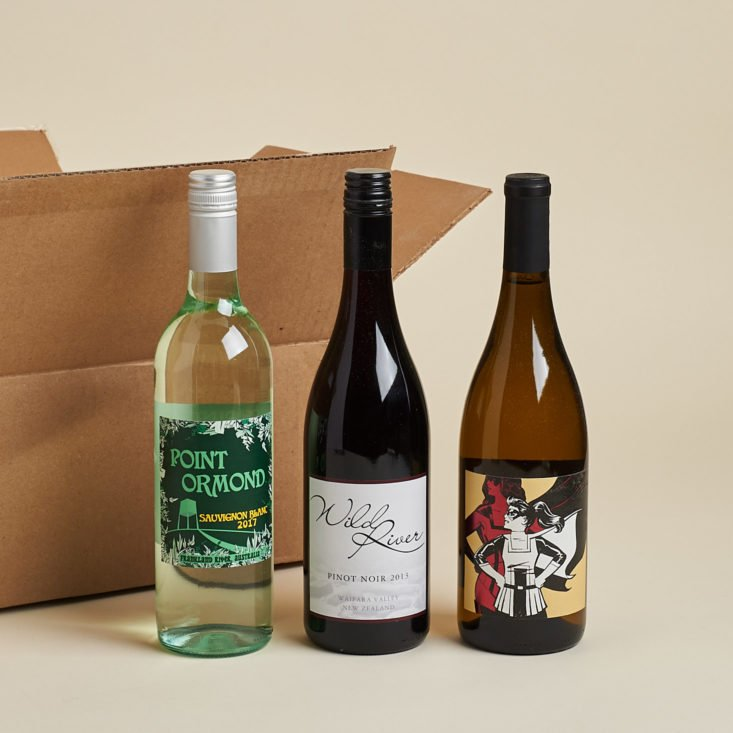 wines in the december 2017 wine awesomeness box