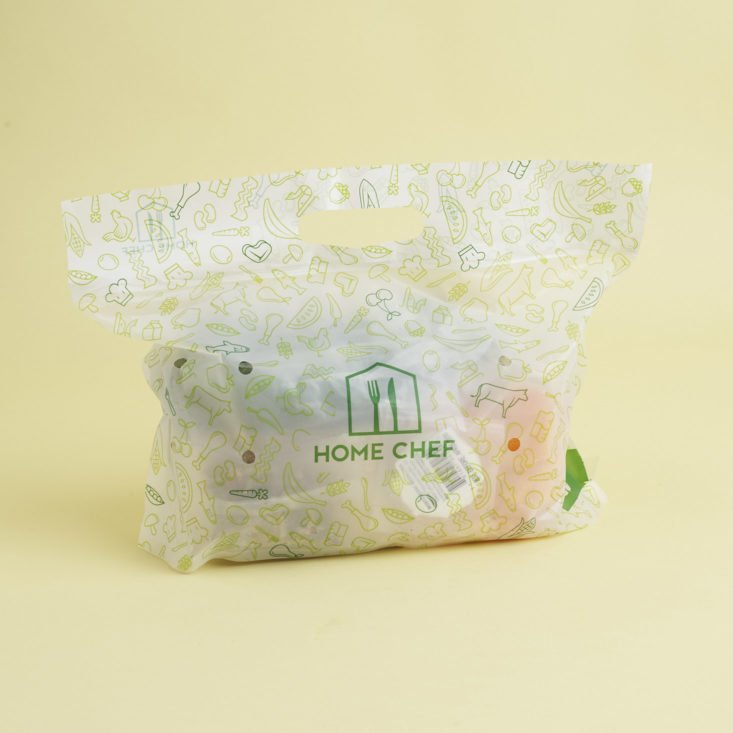 home chef ingredients bag for squash and beets