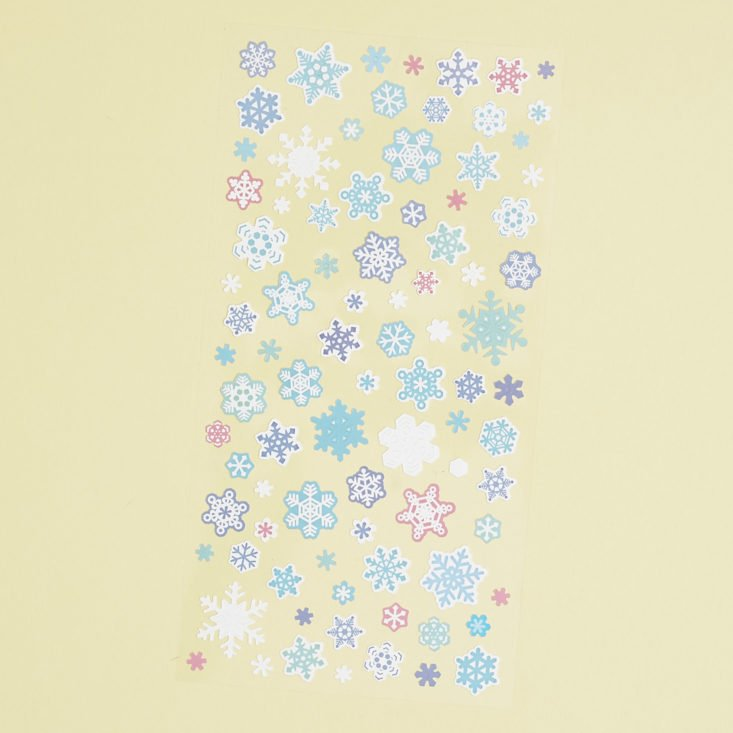 colorful snowflake stickers