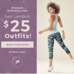 Extended – Today Only! Fabletics Sale – $25 Outfits!