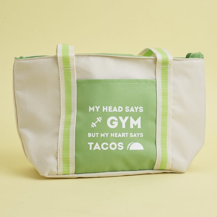 My Head says gym but my heart says tacos lunch bag
