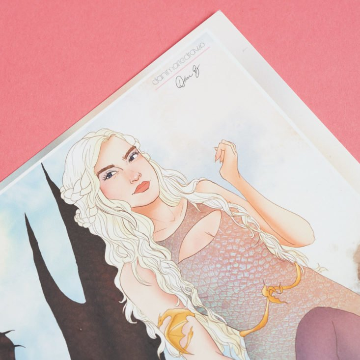 game of thrones illustration card