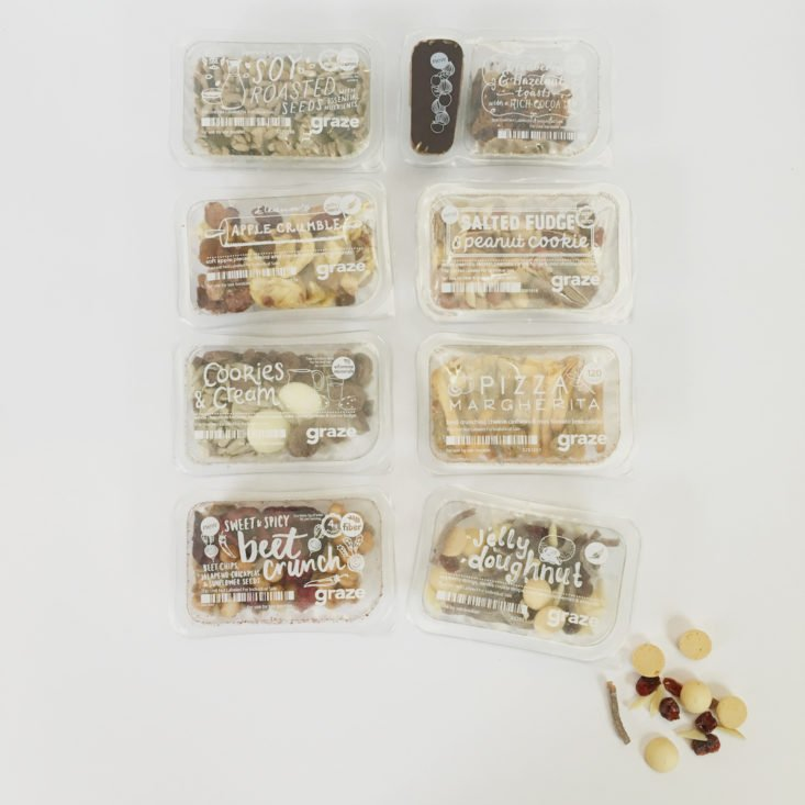 snacks from Graze February 2018