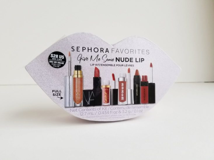 Sephora Favorites Some Nude Lip Kit box closed