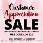 Cocotique Customer Appreciation Sale – 20% Off Subscriptions & Past Boxes!