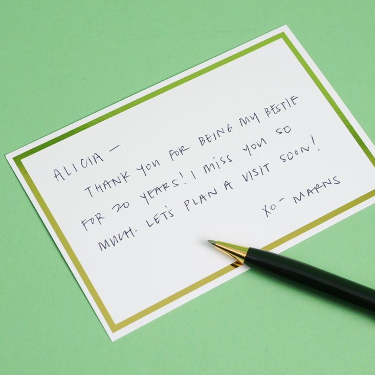 handwritten note with pen