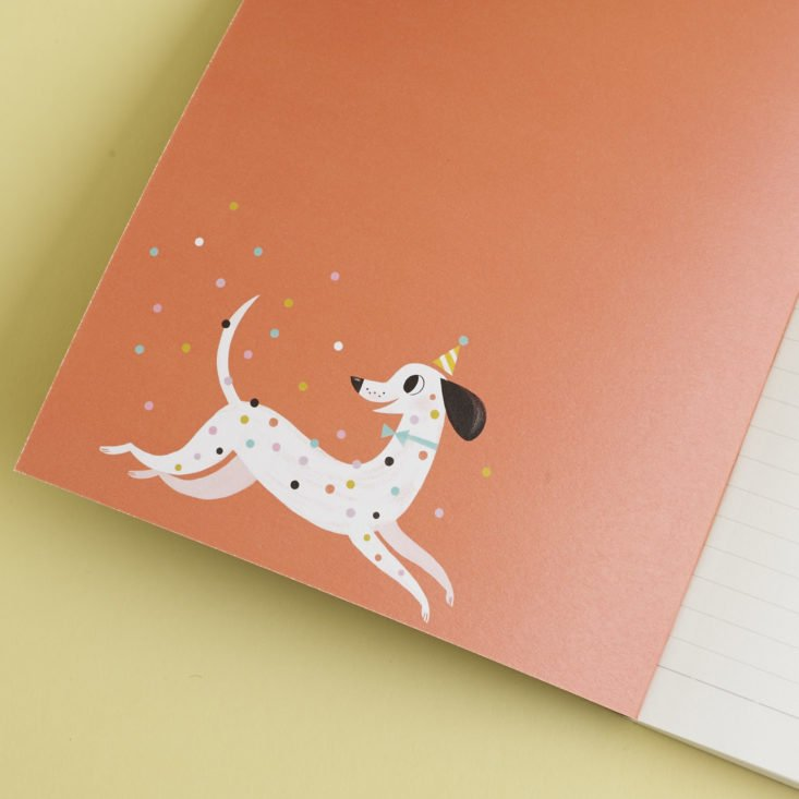 """inside cover of """"Notes"""" polka dot notebook"""