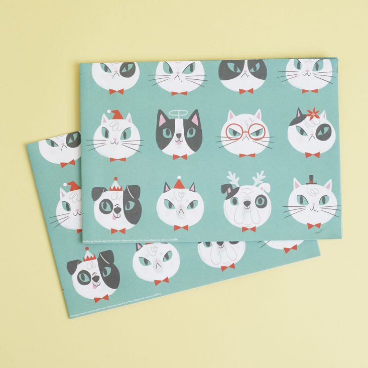 cat and dog patterned wrapping paper by allison black