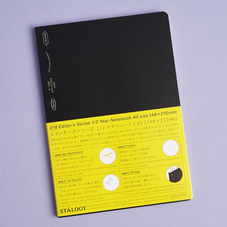 stalogy editor series half year A5 notebook with wrapping