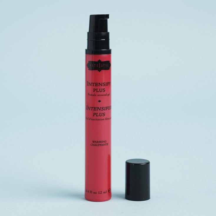 Kamasutra Arouse intensifying gel with cap off