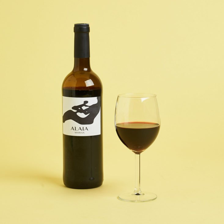 alaia red wine in glass