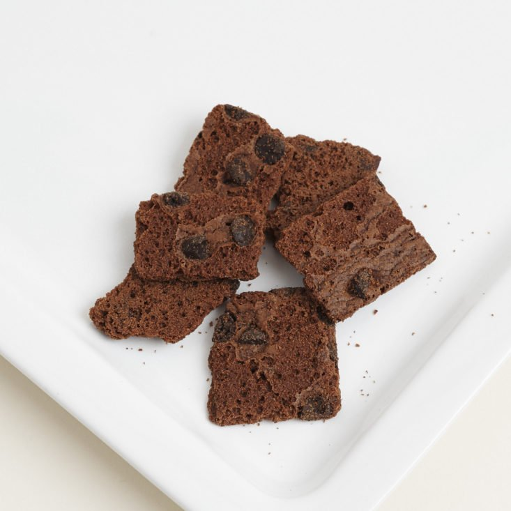 Sheila G's Brownie Brittle in Chocolate Chip on plate