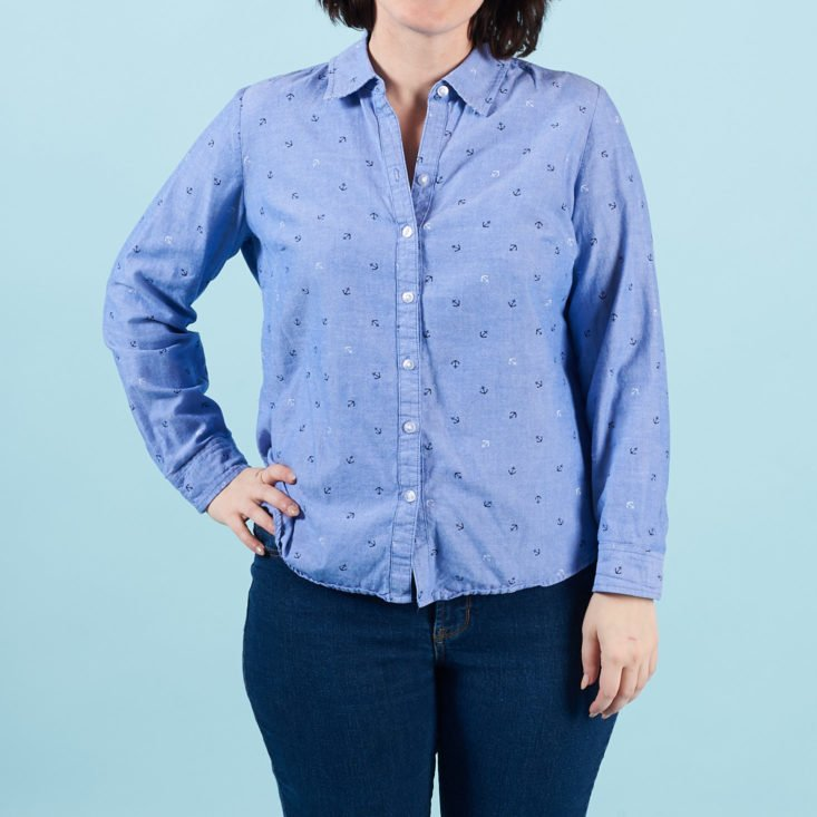thred up march 2018 chambray top