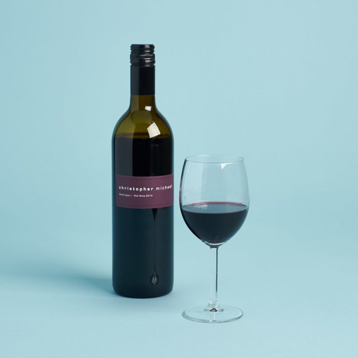 red blend wine in glass