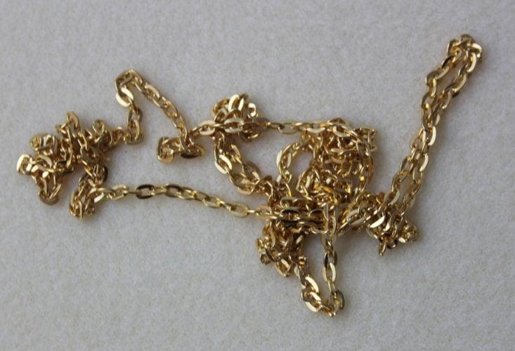 1m 5mm Steel Jewelry Chain, Gold Finish