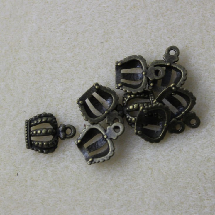 Brass Crown Charms