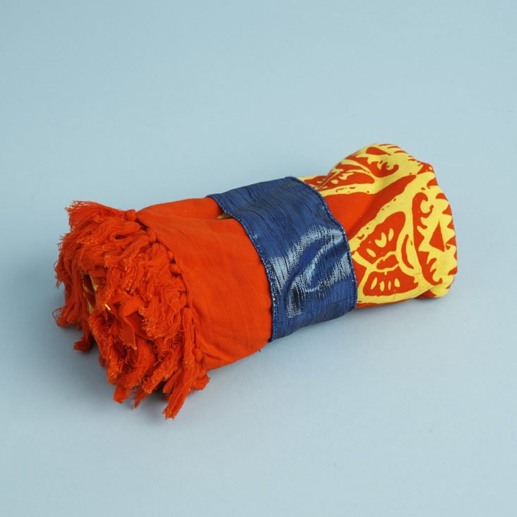 Global Groove Sarong rolled up