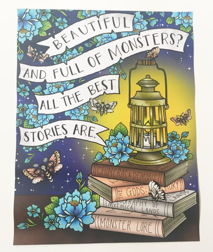"""Beautiful and Full of Monsters? All the Best Stories Are,"" Art Print"