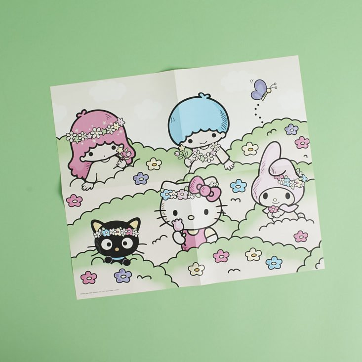 sanrio small gift crate spring box poster