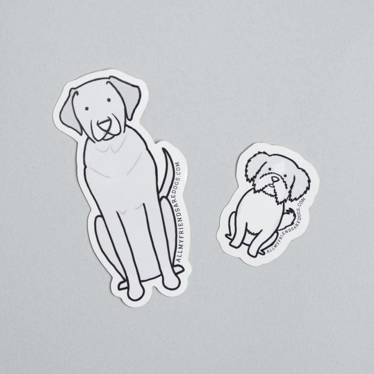 coastal cruising dog stickers