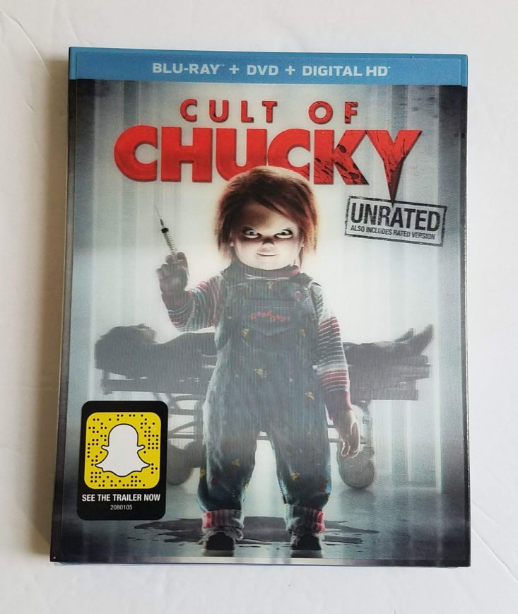 Horror Pack Subscription Box August 2018- Cult of Chucky DVD Front