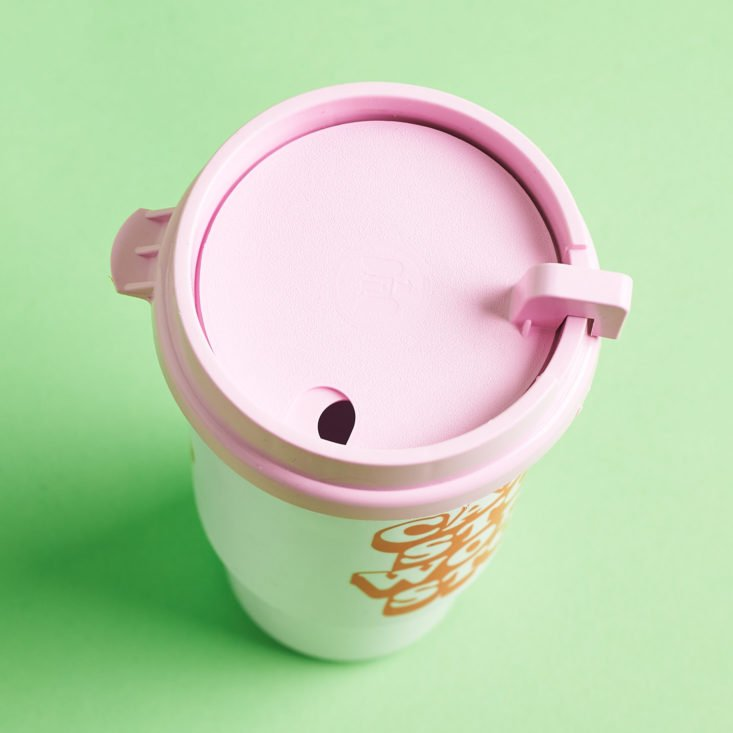 quirky crate pink coffee tumbler