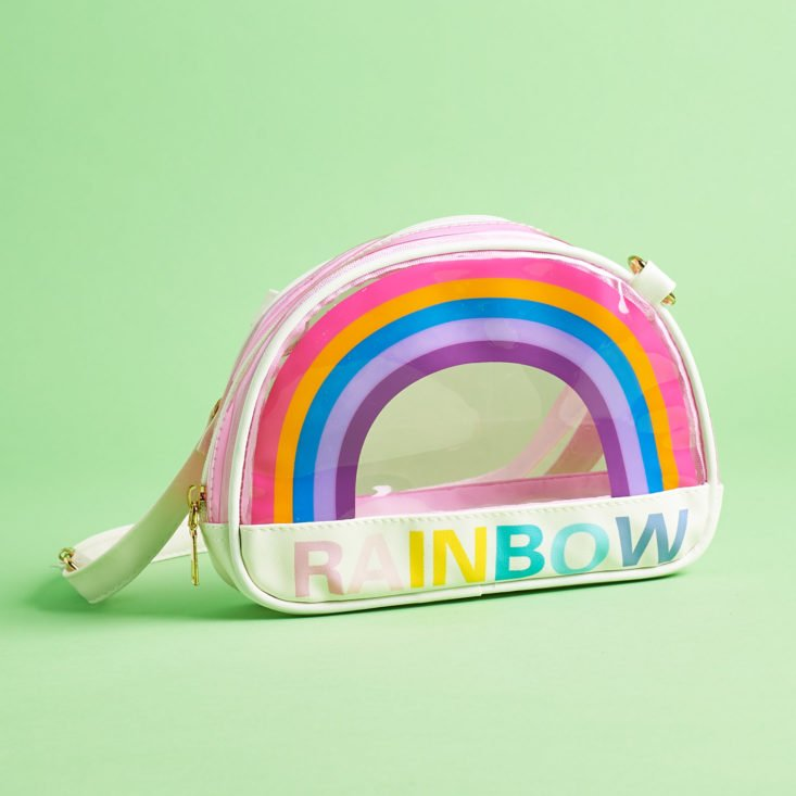 quirky crate rainbow purse