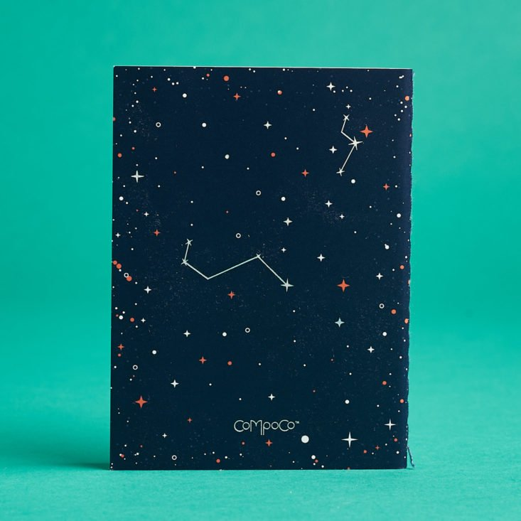 Quirky Post constellation notebook