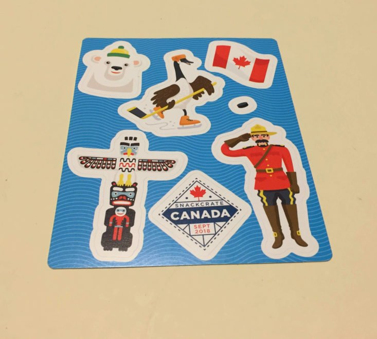 Snack Crate Canada September 2018 - Stickers