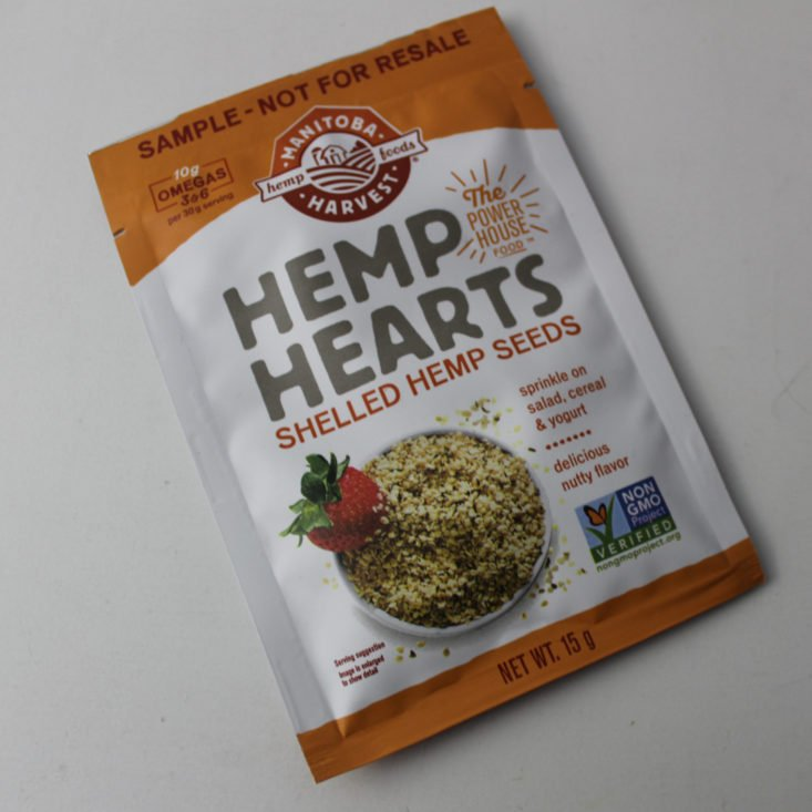 Vegan Cuts Snack December 2018 Box - Manitoba Harvest Hemp Hearts Top