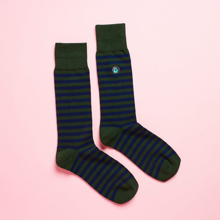 Basic Man Subscription Box Review January 2019 - Basic Man Socks 1 Top