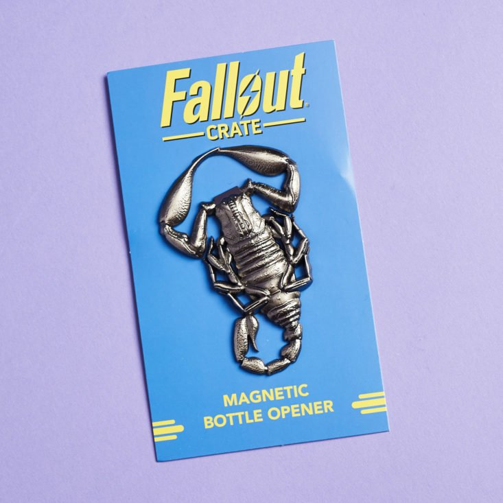 Fallout Crate #7 Nuked January 2019 - Radscorpin Bottle Opener 8