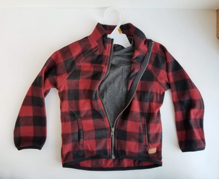 Kid Box 3T Boys January 2019 plaid jacket