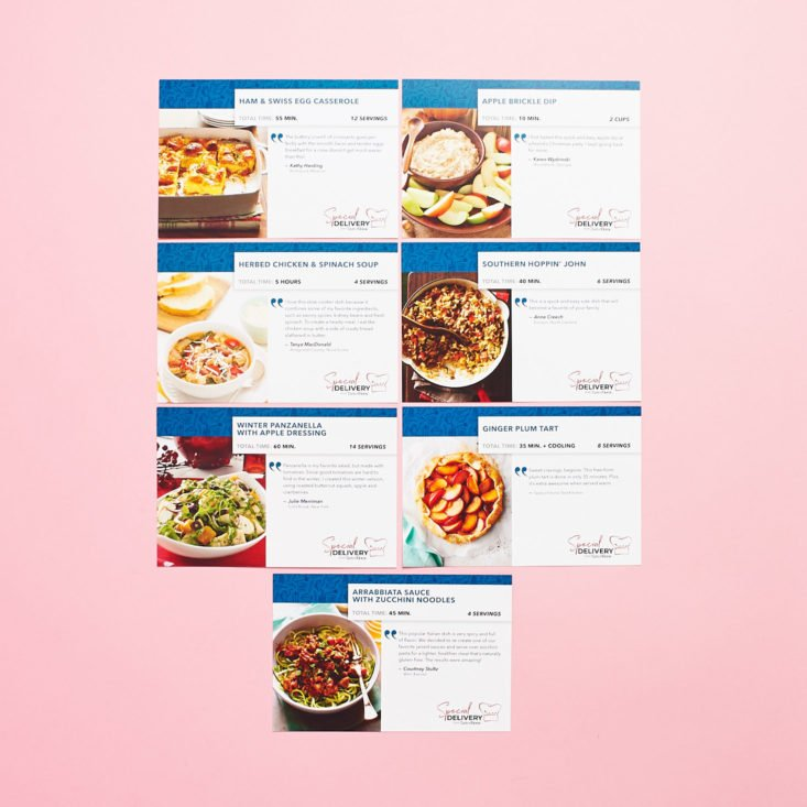 Taste of Home Winter recipe cards all togther