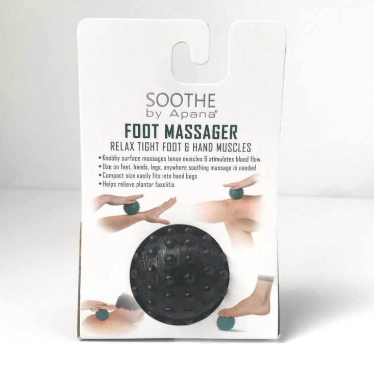 Yogi Surprise January 2019 - Soothe By Apana Foot Massager Close Back