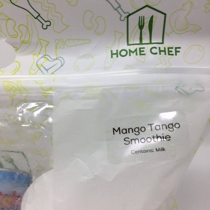 Home Chef Subscription Box Review February 2019 - SMOOTHIE BAG LABEL