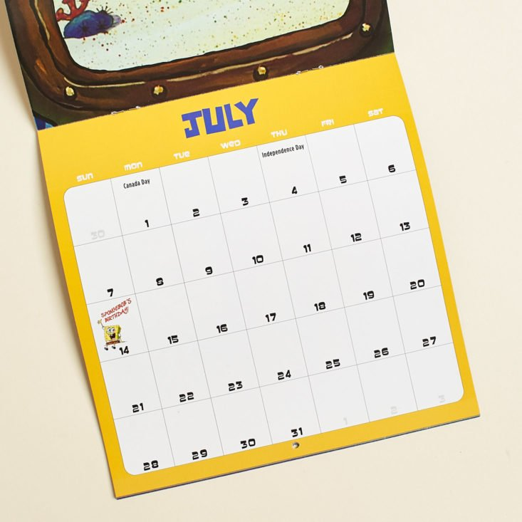 Loot Crate Binge January 2019 - SpongeBob Calendar 24