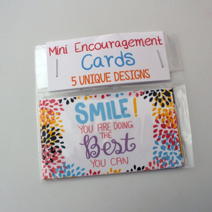 Box of Happies February 2019 - Mini Encouragement Cards (set of 5) In Package Front
