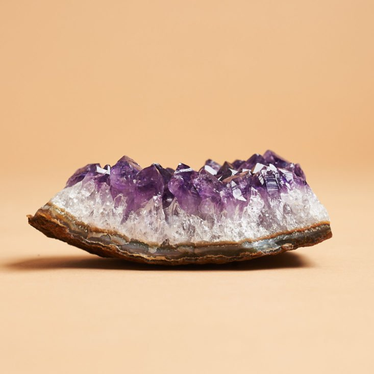 Enchanted Crystal Big March 2019 amethyst cluster side