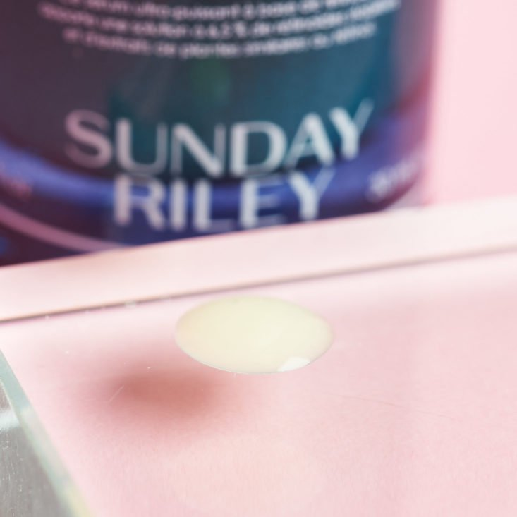 New Beauty Test Tube March 2019 sunday riley detail