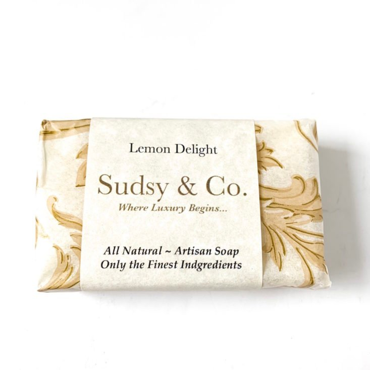 Sudsy Club April 2019 - Lemon Delight Soap Packet Front