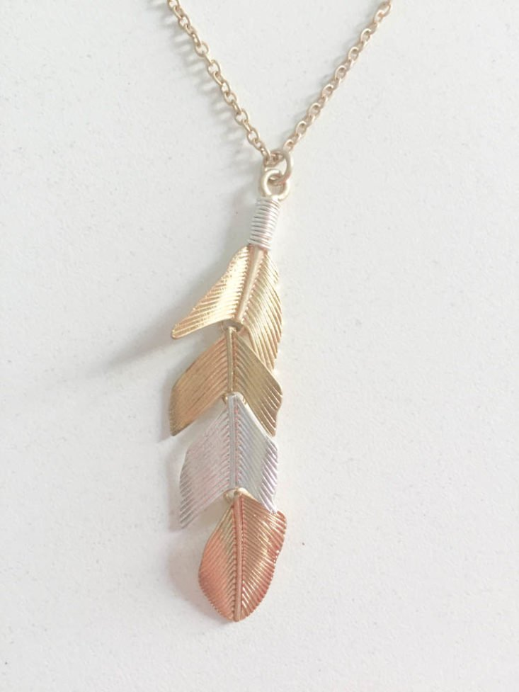 Nadine West Subscription Box Review April 2019 - Feather Weather Necklace 2 Top