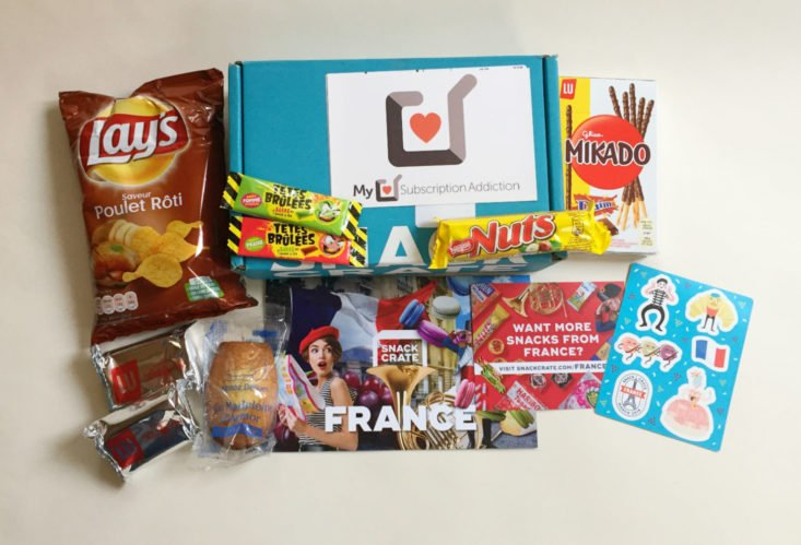 Snack Crate April 2019 - All The Goodies France theme