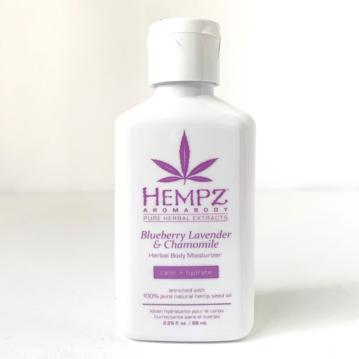 Ulta Pamper Yourself Bath & Body Must Haves April 2019 - Hempz Blueberry Lavender & Chamomile Herbal Body Moisturizer Front