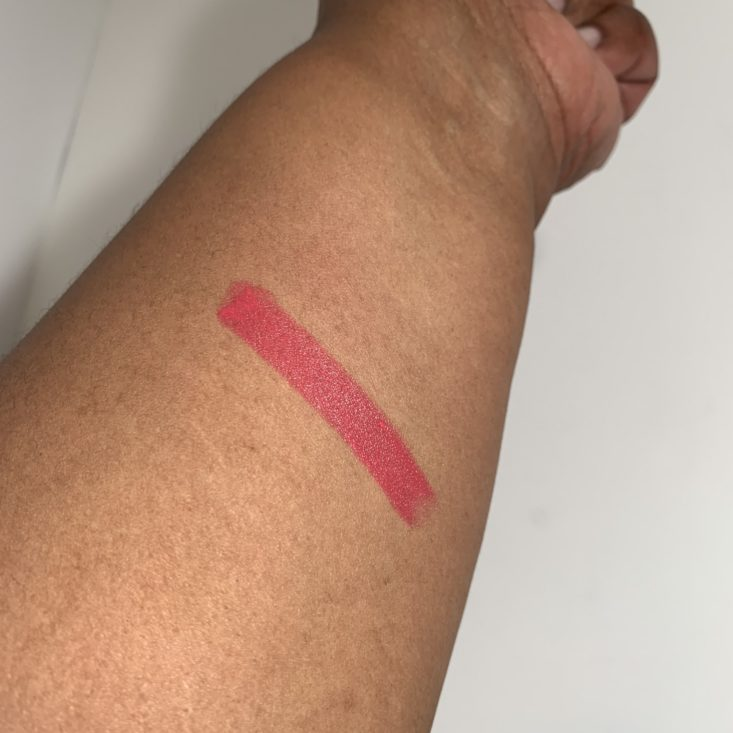 "Cocotique ""Black Radiance"" April 2019 Review - Black Radiance Perfect Tone Lip Color – 5114 Hibiscus 3 Swatch"