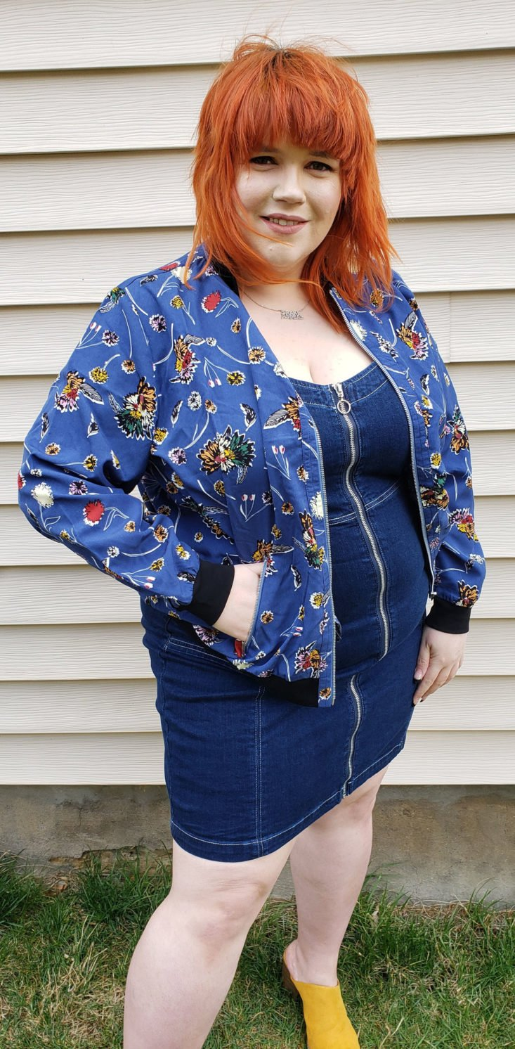 Dia & Co Subscription Box Review March 2019 - Leah Bomber Jacket by East Adeline Size 2x 4 Front