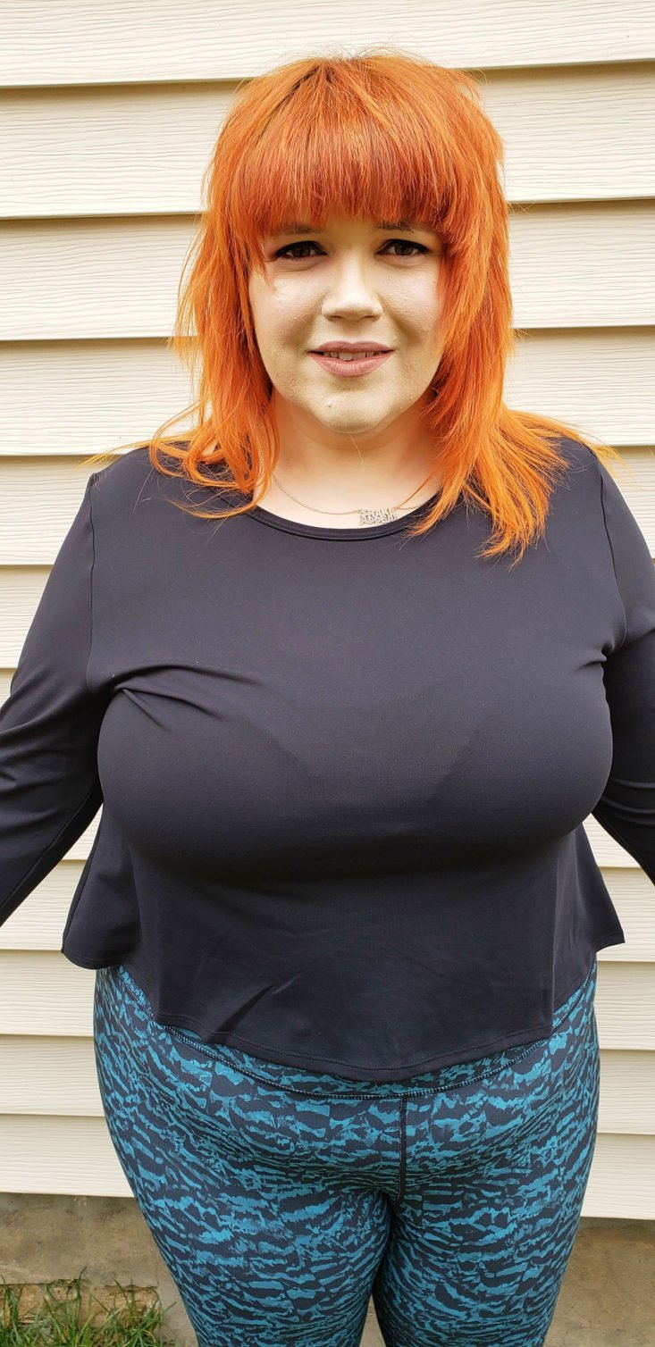 Fabletics Plus Size March 2019 Box - Avery LS Top In Black Size 3x 2